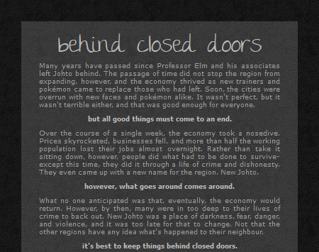 BEHIND CLOSED DOORS | a dystopian pokemon roleplay Ad1